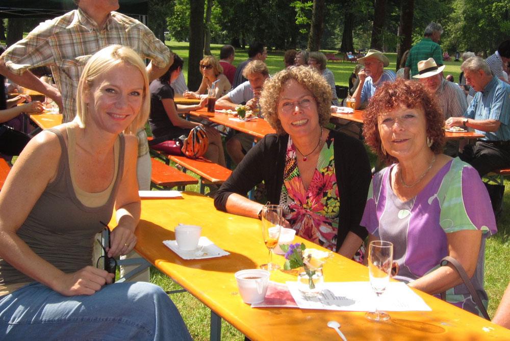 Annette Gröschner (Mitte) mit D. Hüttinger und G. Penzkofer