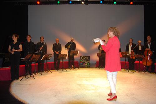 Annette Gröschner dankt den Künstlern