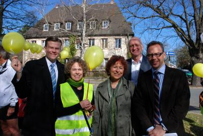 A. Gröschner, Stadträte M. König(CSU), G. Penzkofer-Röhrl(SPD), A. Mletzko(Die Grünen), Dr. M Reindl(CSU)
