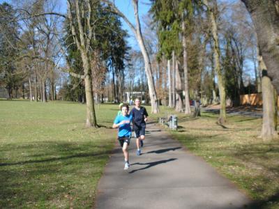 sportliche Läufer der Rudolf-Steiner-Schule