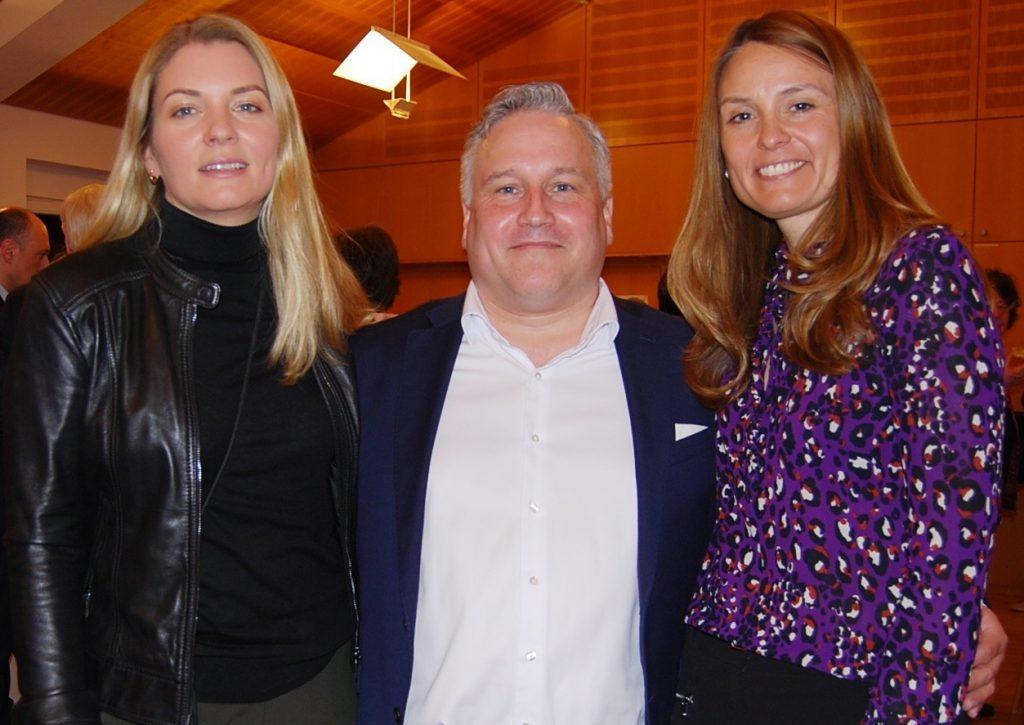 Die neuen Vorsitzenden: Sandra Beeck (3.), Jörg Brunner (1.) und Anja Schäfer (2.)