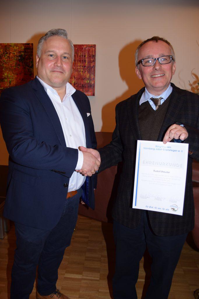 Rudolf Stauder wird zum Ehrenmitglied ernannt
