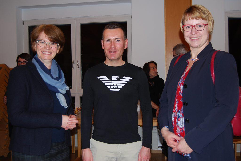 Vertreter der Schulen: N. Wohlleben (Konrad-Groß-Schule, Matthias Volk und Tanja Rahm (Gebrüder-Grimm-Schule)